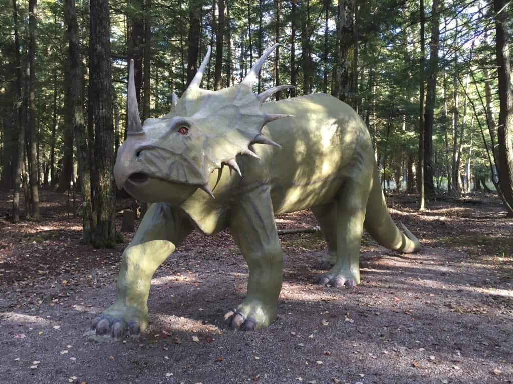 Styracosaurus at Dinosaur Gardens near Alpena. Photo by Joel Heckaman - Awesome Mitten #MittenTrip