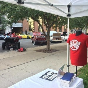 517 Shirts booth at the R.E. Olds Capital Car Show. Photo by Ty Forquer.