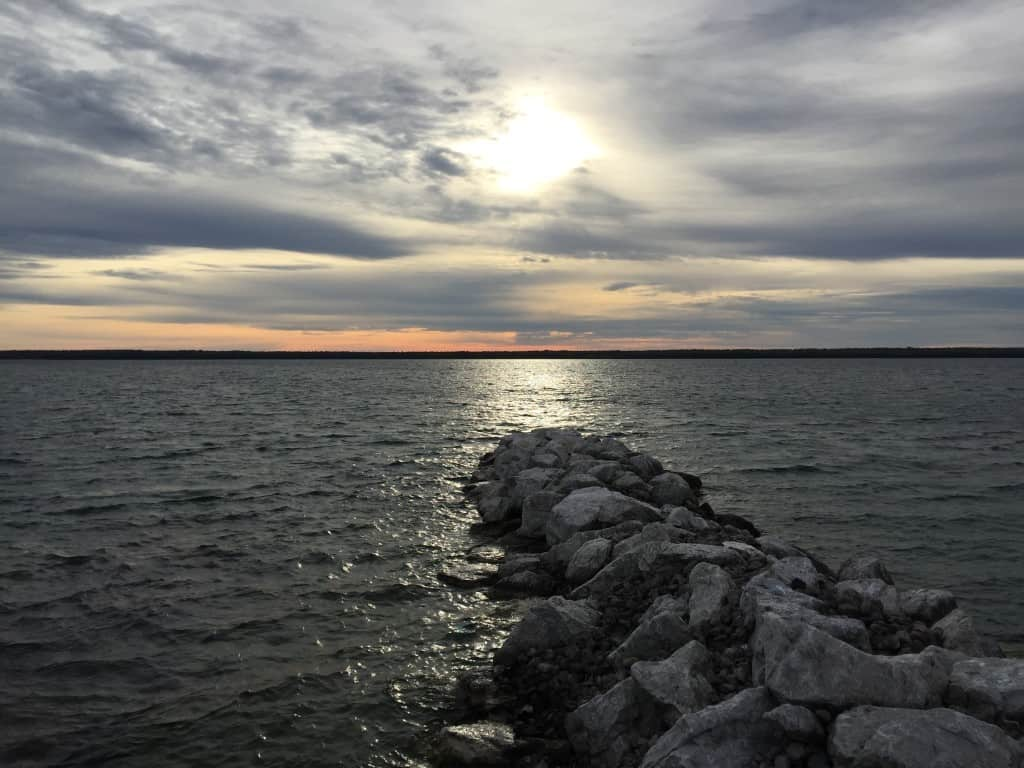 View of Alpena from Middle Island. Photo by Joel Heckaman - Awesome Mitten #MittenTrip