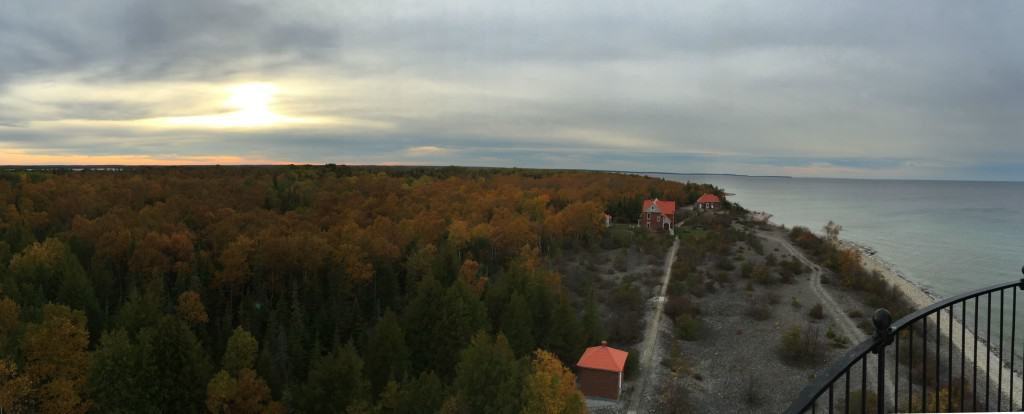 Middle Island and Lake Huron from atop Middle Island Lighthouse. Photo by Joel Heckaman - Awesome Mitten #MittenTrip