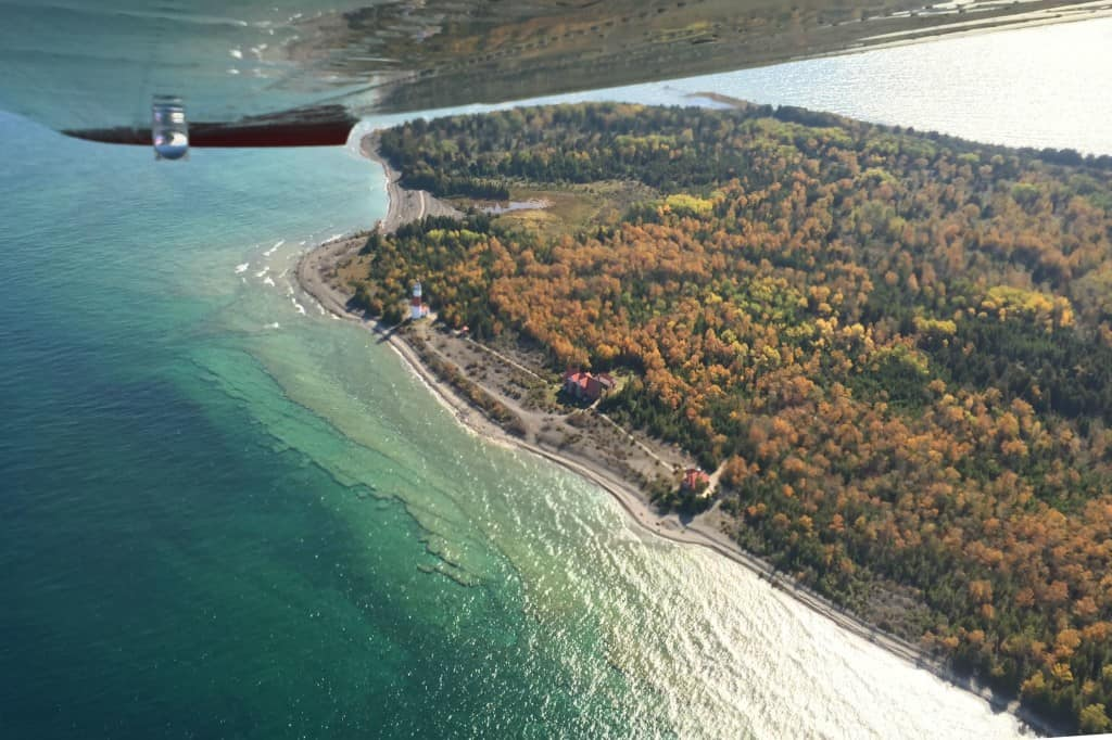Middle Island during an Aviation North aerial tour. Photo by Joel Heckaman - Awesome Mitten #MittenTrip
