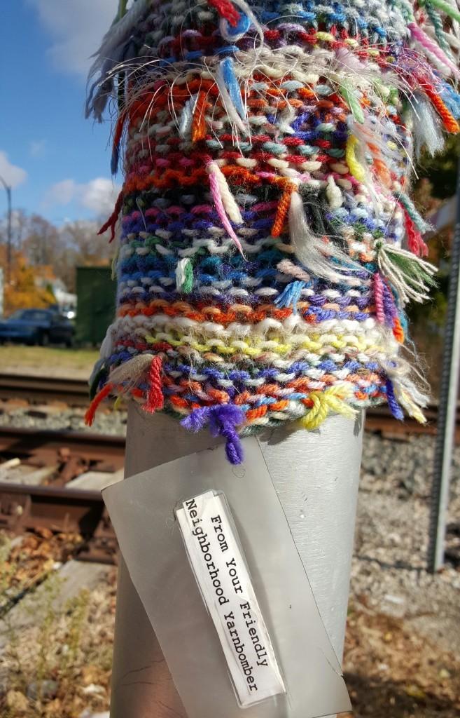 Yarn Bomb - #MittenTrip - Ypsilanti - The Awesome Mitten