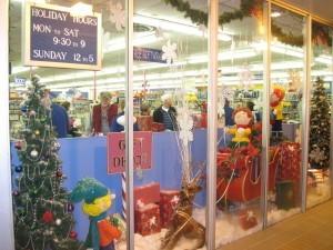Toy House & Baby Too Christmas Window