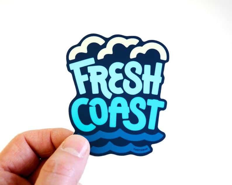 fresh coast sticker Michigan Gift Guide for the Outdoor Adventurer
