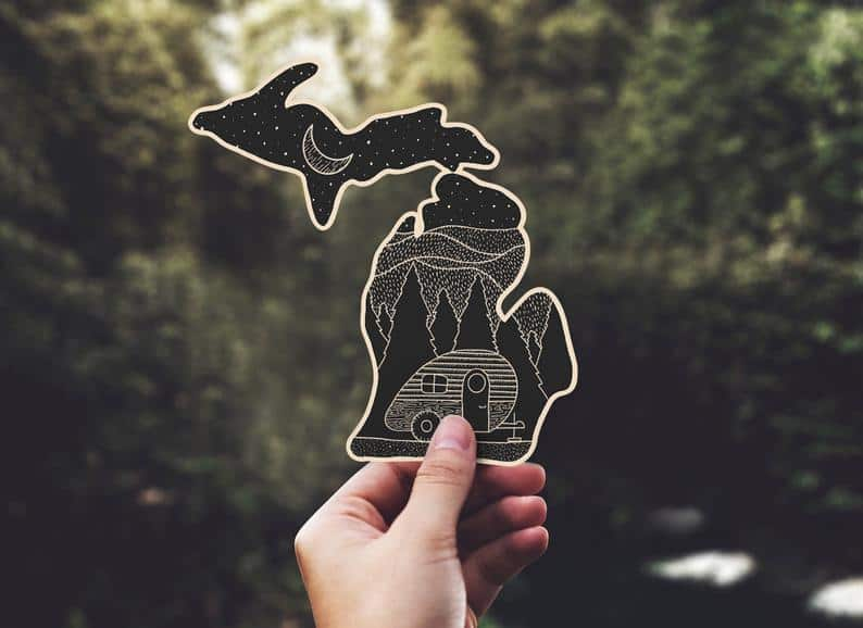 michigan camping decal Michigan Gift Guide for the Outdoor Adventurer