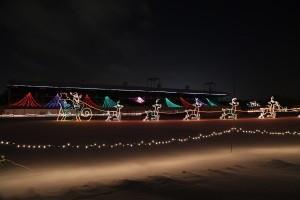 Santa and His Reindeer at Nite Lites Jackson