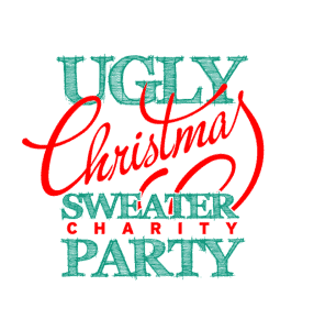 Ugly Christmas Sweater Charity Party - Awesome Mitten