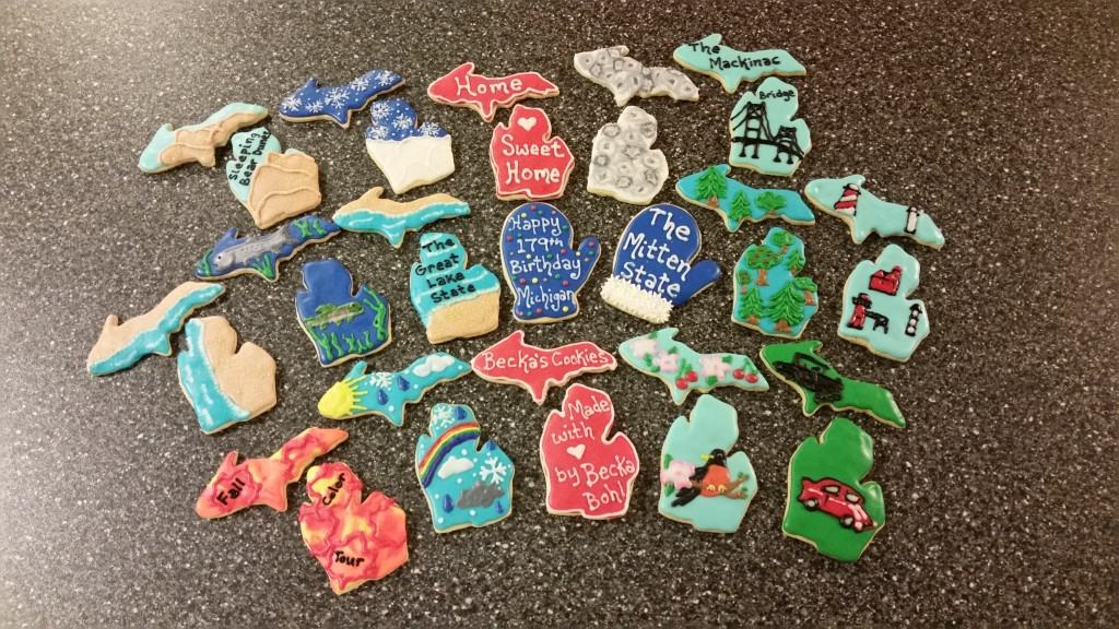 Becka's Cookies (by Becka Bohl) - Michigan Birthday Bakeoff - the awesome mitten