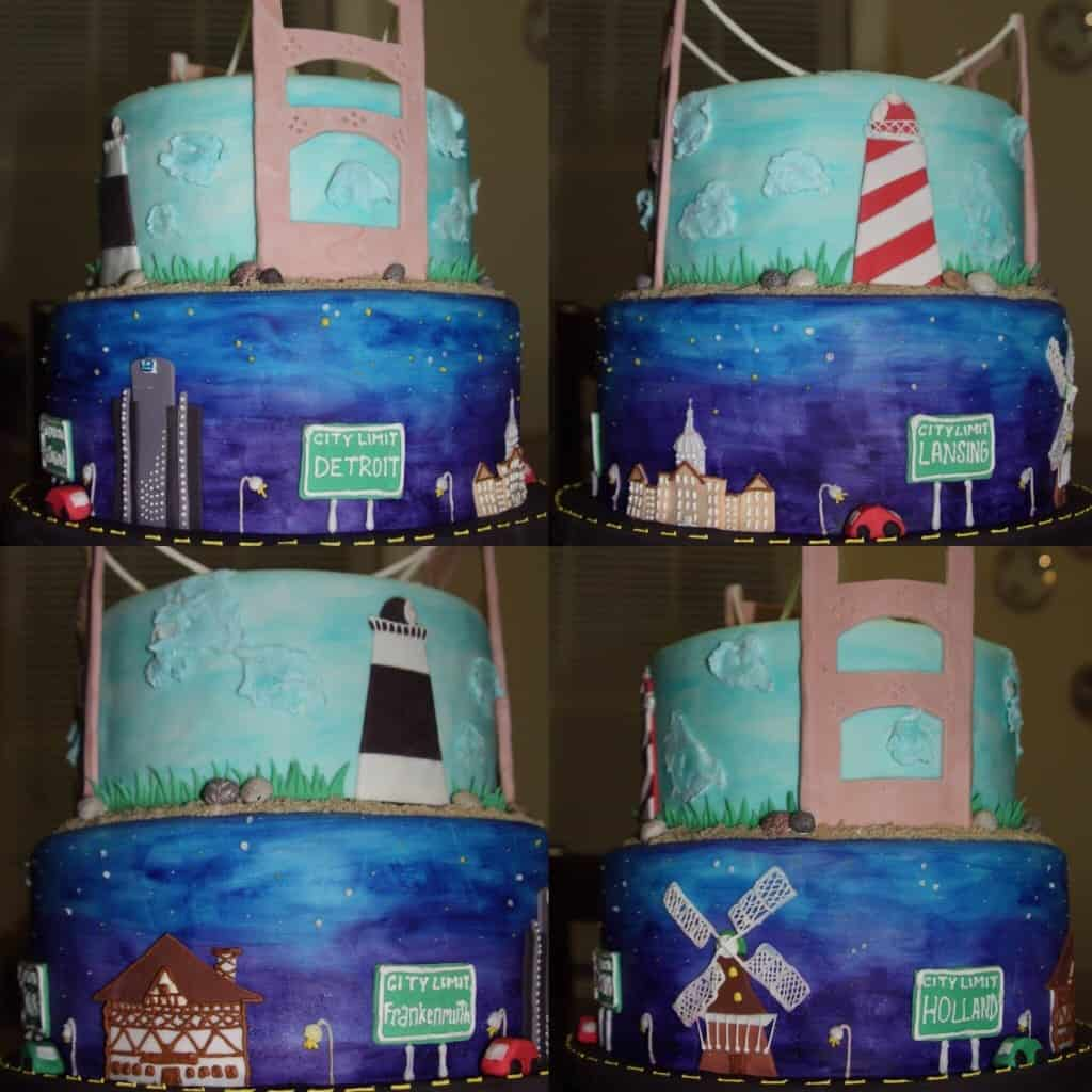 Lisa Gross - Michigan Birthday Bake off - the awesome mitten