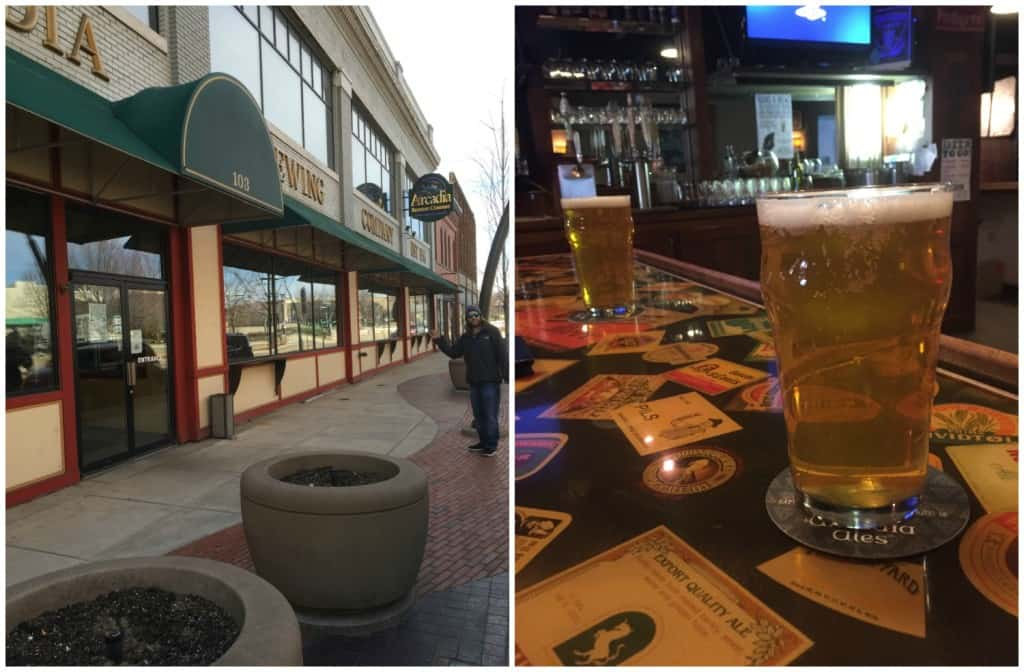 Time for dinner and drinks at Arcadia Brewing Company! Photo by Rhonda Greene.