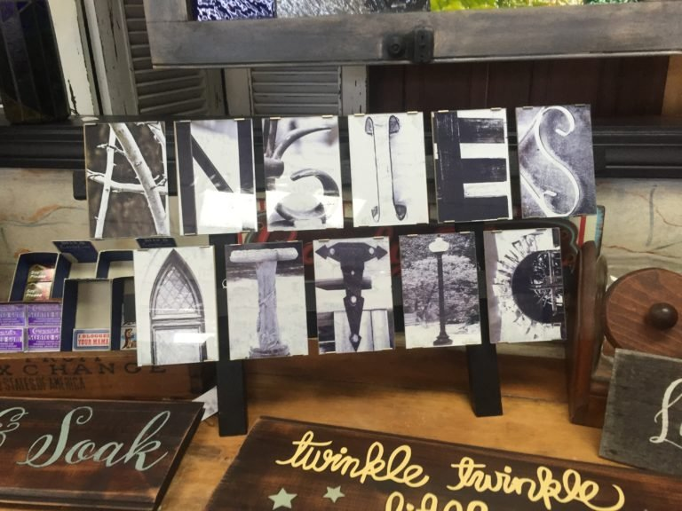 Angie's Attic Sign