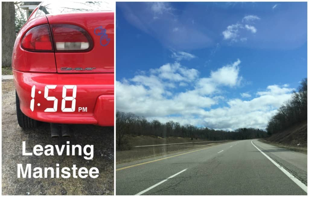 Blue skies and open road: the perfect day for a #MittenTrip. Photos by Rhonda Greene