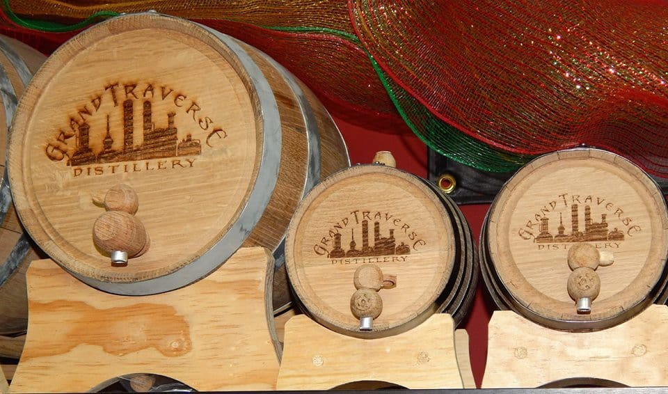 Grand Traverse Distillery sells mini aging barrels to help you achieve your ideal whiskey flavor. Photo courtesy of Grand Traverse Distilling