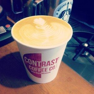 Latte art at it's finest! Photo courtesy of Contrast Coffee Co.