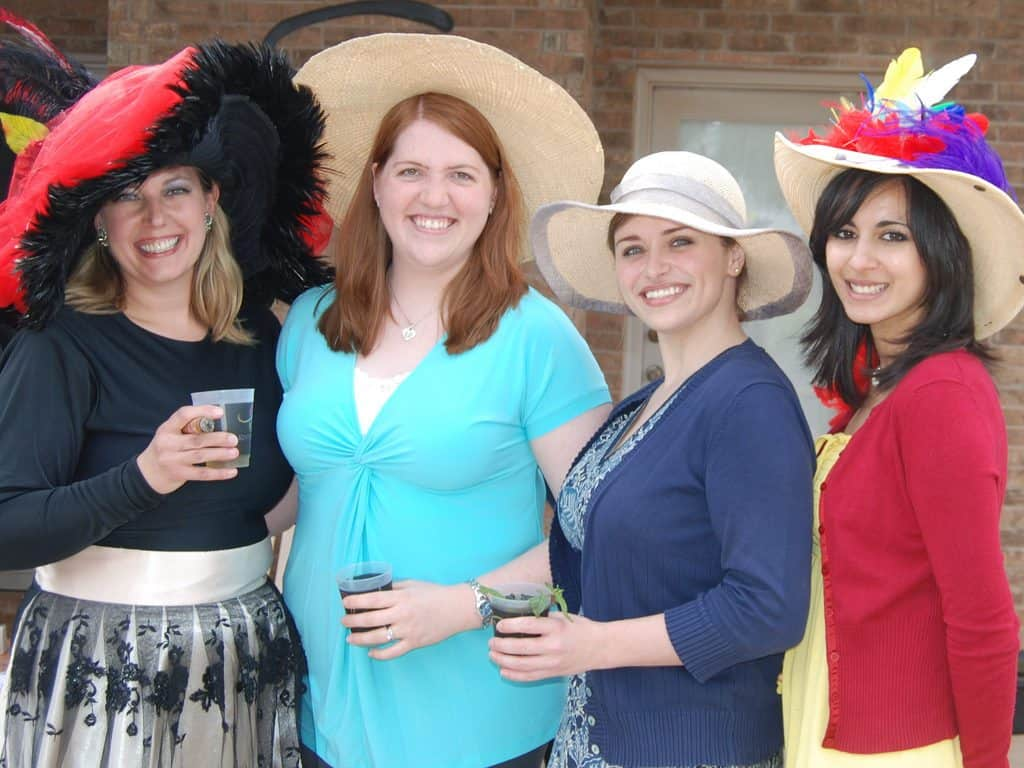 No Kentucky Derby party is complete without large hats and Mint Juleps. Photo courtesy of Kimberly Vardeman