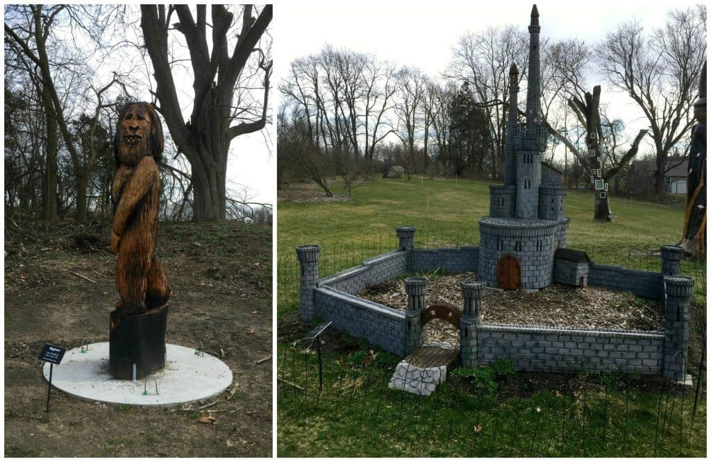 From Bigfoot to castles, the sculptures cover the full spectrum of fantasy. Photos by Rhonda Greene.