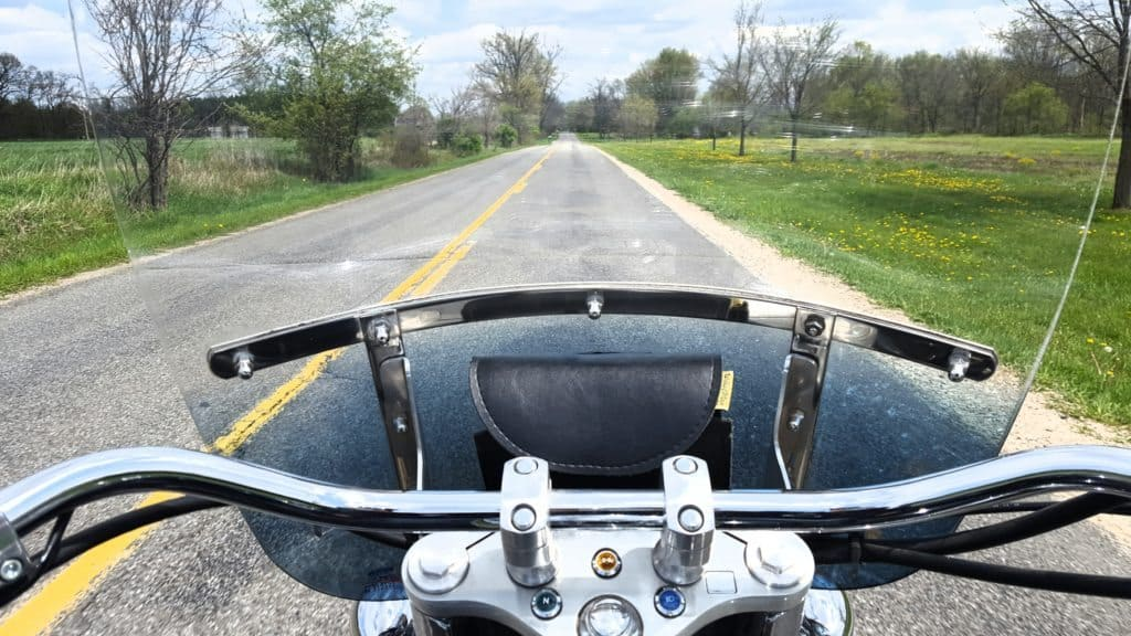 View from the handlebars. Photo courtesy of Jackie Mitchell