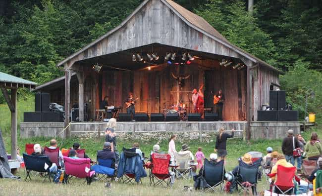 Farmfest's main stage is an old converted barn. Photo courtesy of Farmfest