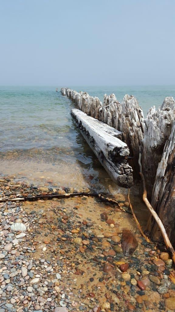 Michigan's rocky shore. Photo courtesy of Jackie Mitchell.