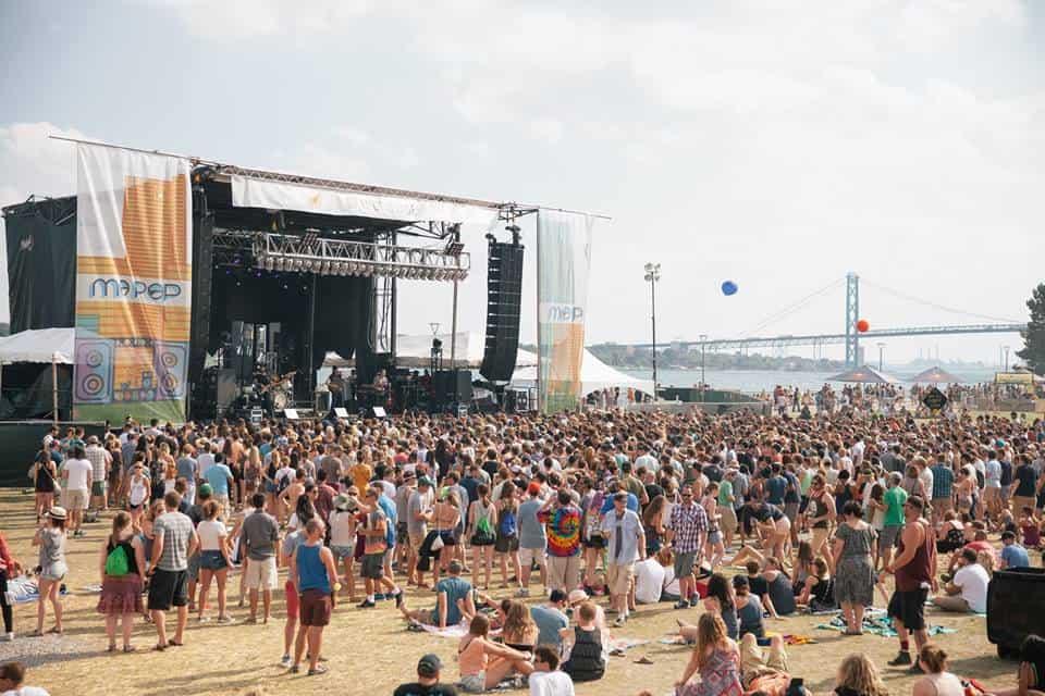 MO POP Festival at Detroit's West Riverfront Park near the Ambassador Bridge. Photo Courtesy of MO POP Festival
