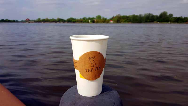 Sustainable Coffee Sleeves from sleeve-less.com in Grand Rapids, Michigan