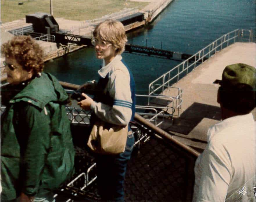My Mom at the Soo Locks Circa 1982 | Photo Rebecca Calkins