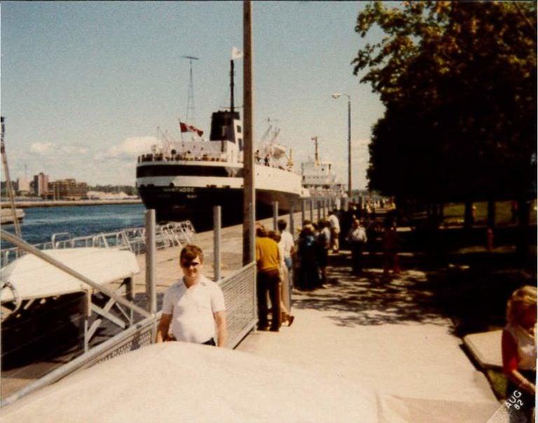 My Dad at the Soo Locks Circa 1982 | Photo Courtesy of Rebecca Calkins