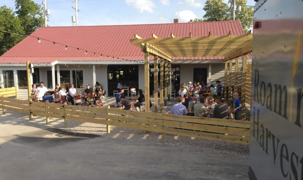 The patio of patios, The Little Fleet is an open-air bar in Traverse City that invites food trucks to serve their unique fares to hungry patrons. Photo courtesy of Roaming Harvest
