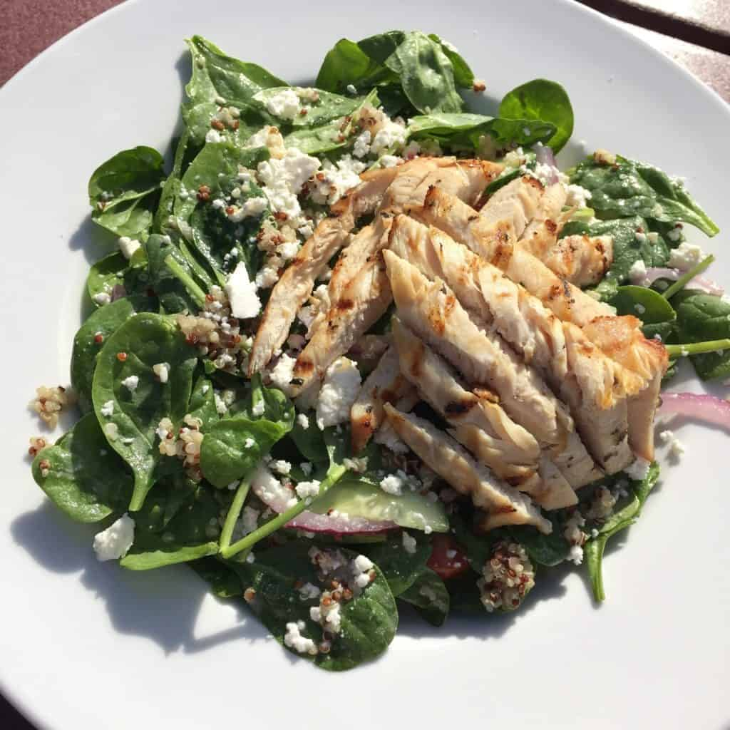 quinoa salad with chicken at the Duck Blind Grille - Otsego Club in Gaylord