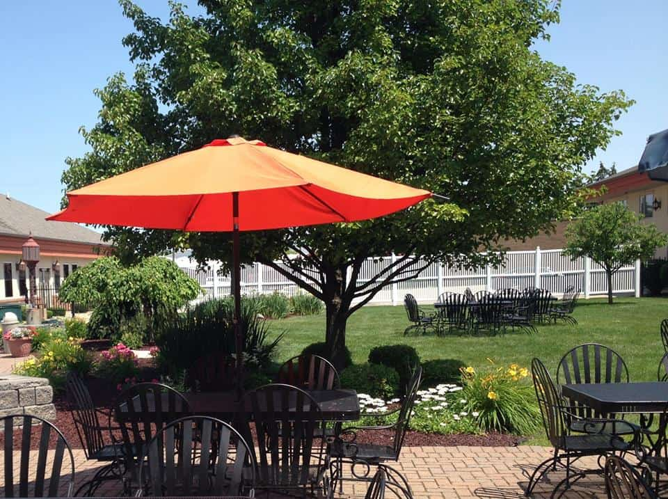 You probably wouldn't guess that the best patio in the area would be at a Ramada, but prepare to be surprised by the hidden gem of Rainmakers in Saginaw. Photo courtesy of Rainmakers