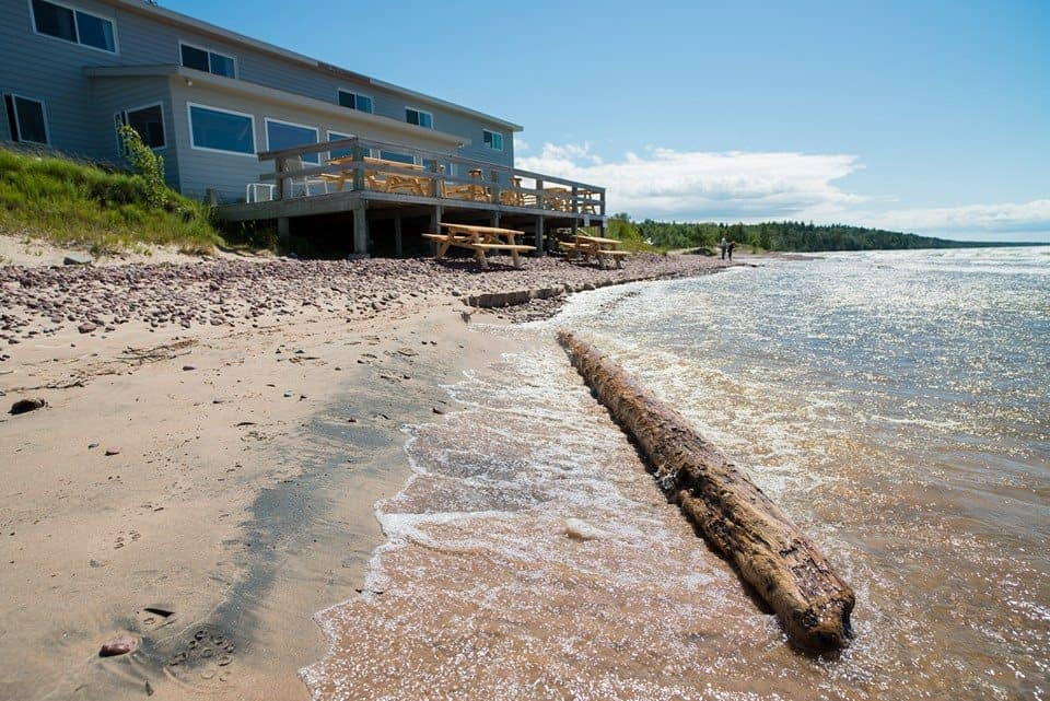 Located on the northern tip of Keweenaw Peninsula, The Fitz offers not only great food and views of Lake Superior but also one of the deepest craft beer menus in the state. Photo courtesy of The Fitz