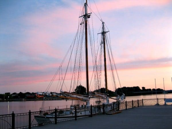 A lone ship remained from last week's Tall Ship Celebration. Photo Courtesy of Bradlee Clegg