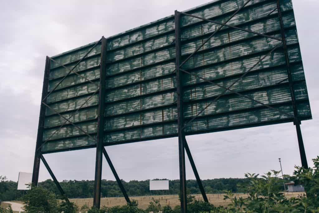 Getty Drive-In screens   Photo by Gideon Hunter