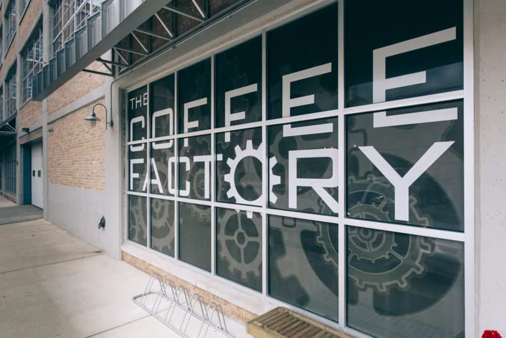 The Coffee Factory entrance   Photo by Gideon Hunter