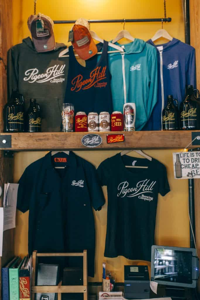 Pigeon Hill Brewing Company merchandise   Photo by Gideon Hunter