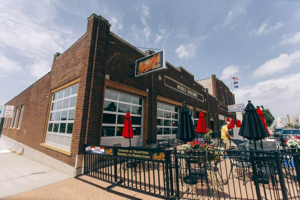 Pigeon Hill Brewing Company patio   Photo by Gideon Hunter