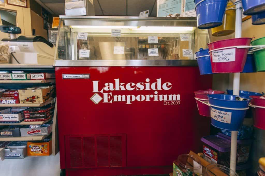 Lakeside Emporium counter   Photo by Gideon Hunter