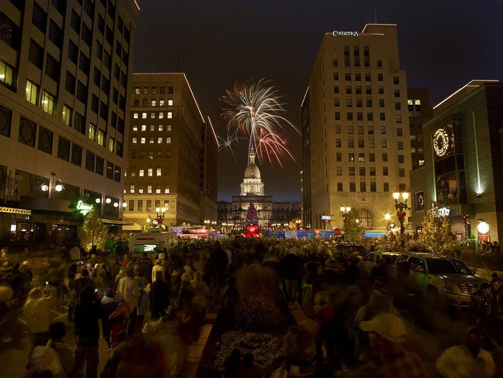 Silver Bells in the City. Photo courtesy Greater Lansing Convention and Vistors Bureau