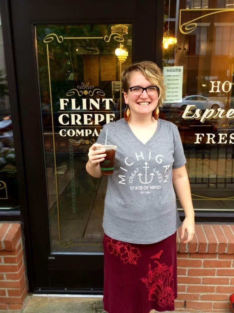 Coffee at the Flint Crepe Company. Photo courtesy of Jonathon Arntson.