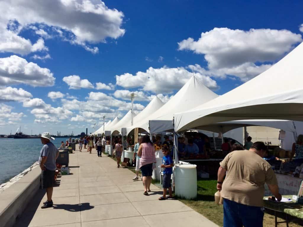 Great Lakes Maritime Center, Farmer's Market, Port Huron - Joel Heckaman - The Awesome Mitten