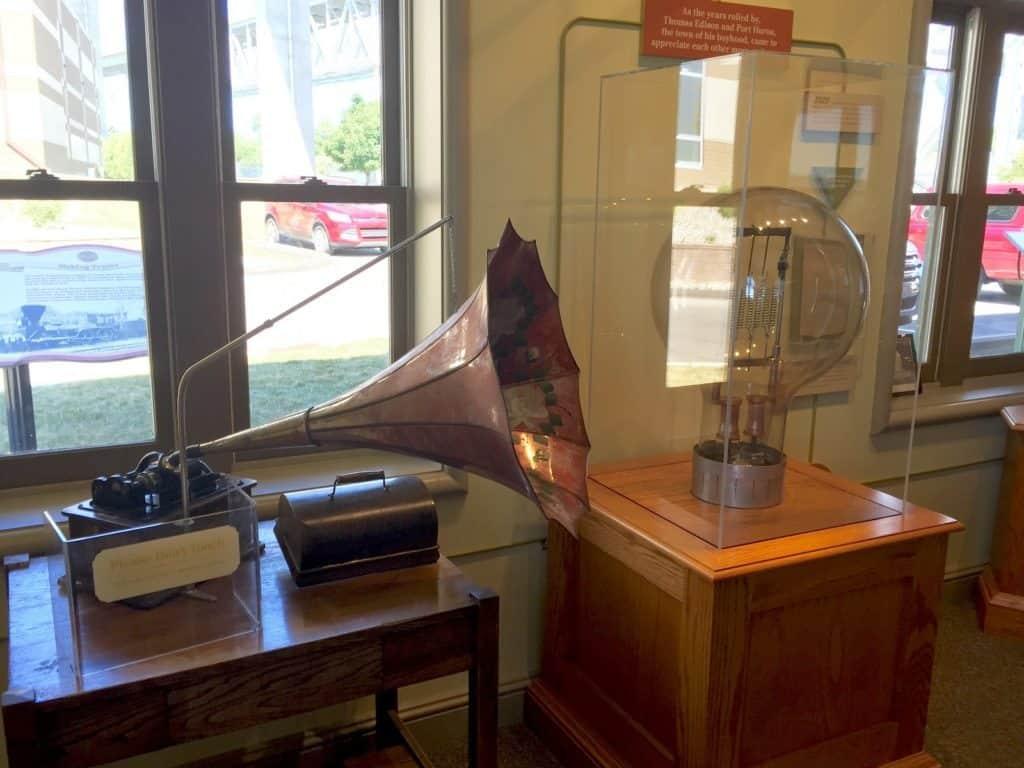 Thomas Edison Depot Museum phonograph, Port Huron - Joel Heckaman - The Awesome Mitten