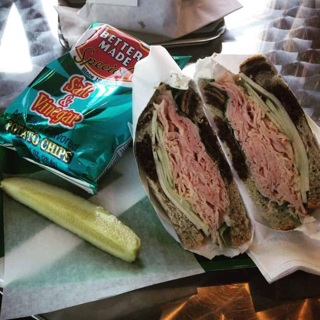 Lunch was this delicious Hoffman's Deco Deli sandwich. Photo courtesy of Jonathon Arntson.