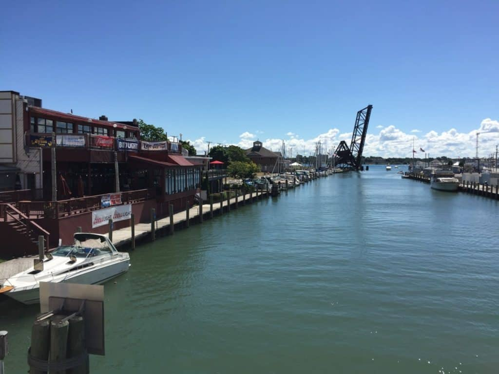 View of the Black River waterfront in Port Huron. Photo by Joel Heckaman