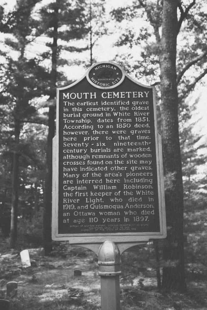 Mouth Cemetery historic marker sign | Photo by Gideon Hunter