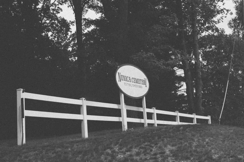 Nunica Cemetery Entrance | Photo by Gideon Hunter