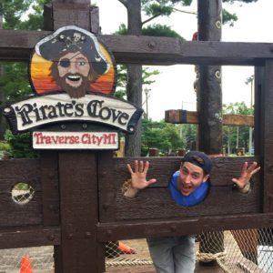 Here's to making new memories in the stockade at Pirate's Cove. Photo courtesy of John Kalmar
