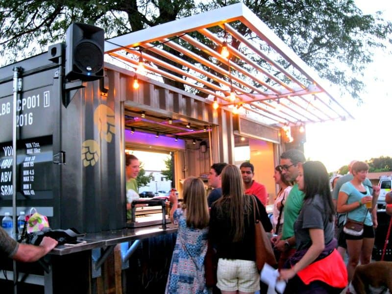 Larkin Beer Garden features a pop-up bar made from a shipping container. Photo Courtesy of Margaret Clegg