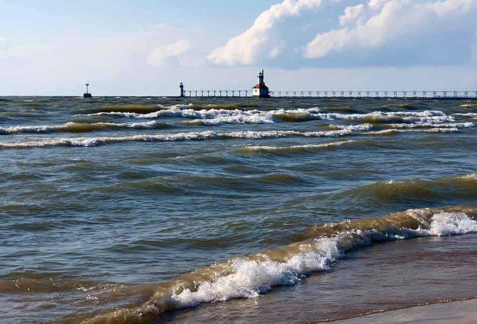 best Lake Michigan beaches in southwest Michigan: Silver Beach in St Joseph Michigan