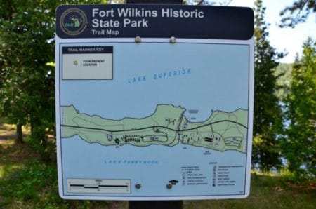 Camp at Fort Wilkins Historic State Park