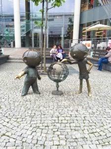 "Commemorative sculpture of ""Bolek and Lolek"". Photo courtesy of Jennifer Polasek."